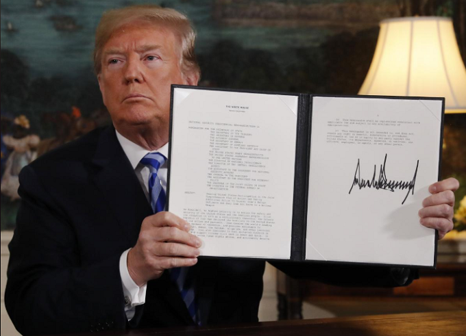 Trump abandons 'defective' Iran nuclear deal, will revive sanctions