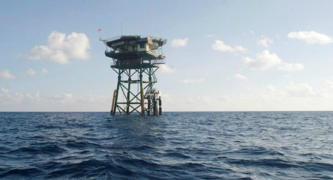 A Vietnamese floating guard station is seen on Spratly islands in this file photo by Reuters.
