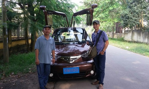Take a spin in this electric car built by Saigon bicycle salesman