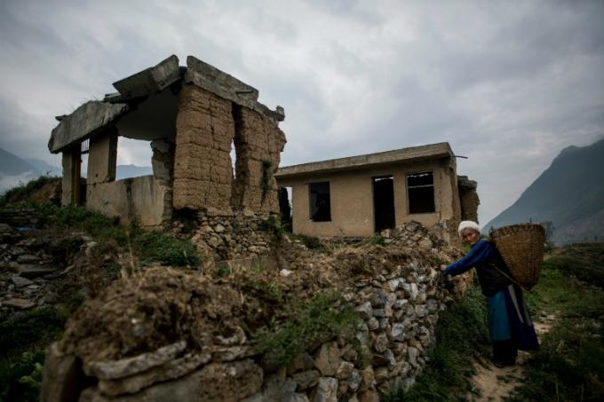 An abandoned ruin.