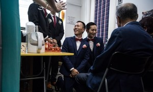 Hong Kong's behind-closed-doors gay weddings