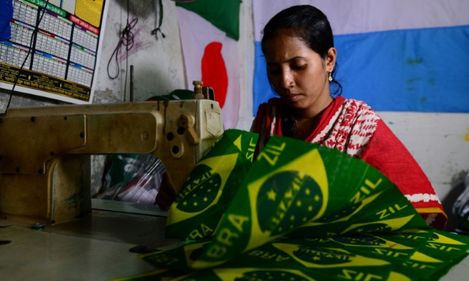World Cup fever causes sleepless nights for Bangladesh flagmakers