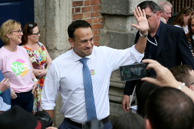 Irelands Prime Minister Leo Varadkar hailed the vote as a quiet revolution. Photo by AFP