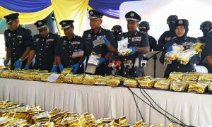 Malaysians make record bust of crystal meth, shipped from Myanmar
