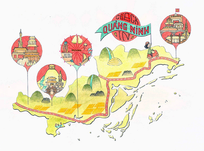 Check in Quang Ninh by Tran Quynh Nhi, 18 years old, won the first prize.