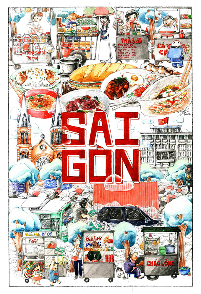 Second place went to Saigon by Le Huynh My, 25.