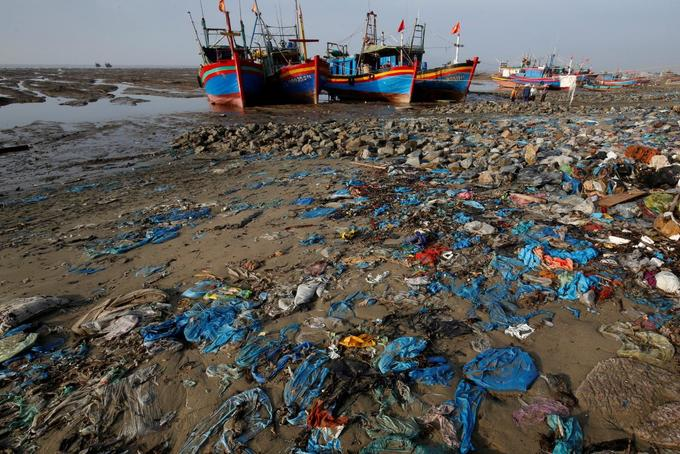 Drastic plastic: Vietnam beach awash with tide of blue waste
