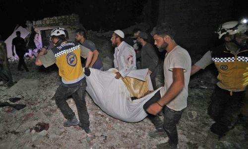 Suspected Russian strikes kill 38 civilians in northwest Syria: monitor