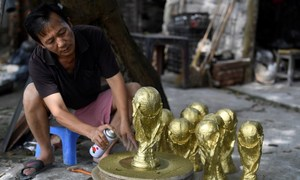 Trophy hunting: World Cup replicas selling fast in Vietnam