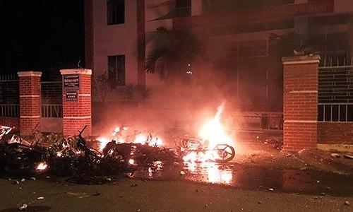102 held for vandalizing gov't office in SEZ law protest in Vietnam