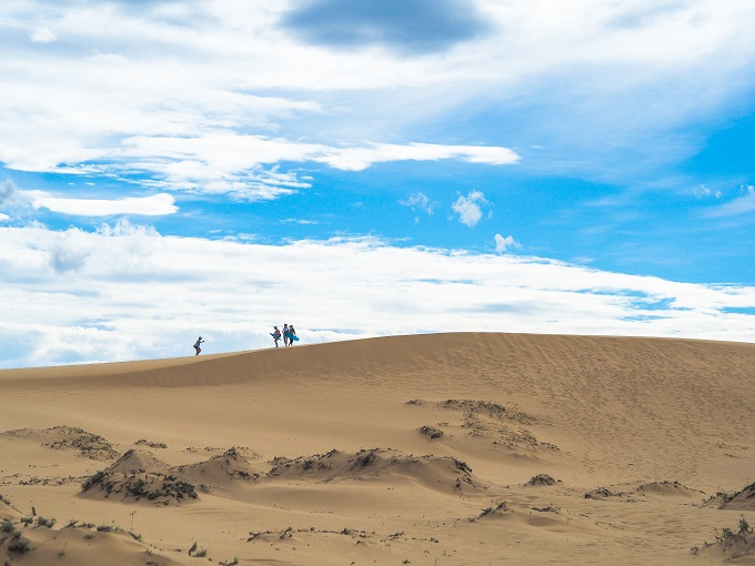 Quang Phu sand dune in the afternoon.