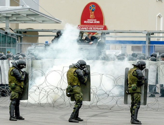 A huge security operation will surround the matches. Photo by AFP
