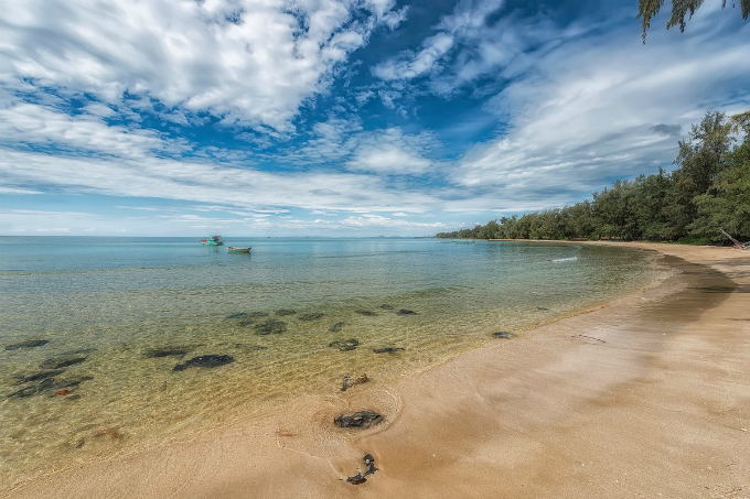 A pristine beach on the southern coast of Phu Quoc. Photo by VnExpress