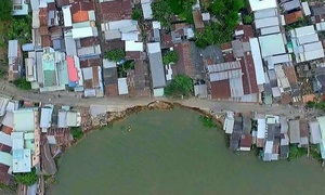 Land erosion a man made disaster in Vietnam's Mekong Delta