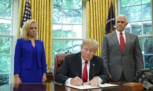 Trump orders halt to family separations