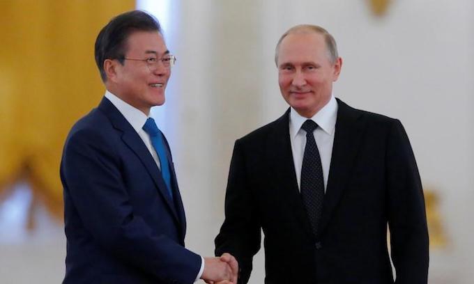 Putin, Moon agree that Trump-Kim summit to help denuclearization