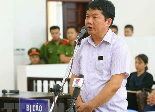 Mr. Dinh La Thang in the appeal court in Hanoi June 26. Photo: VNA