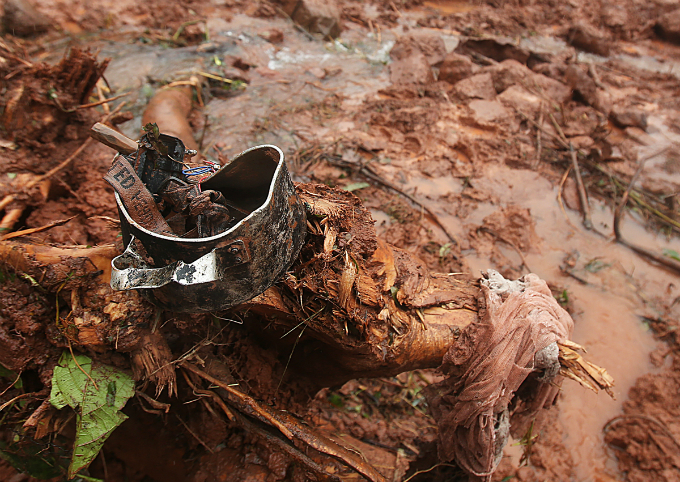 A broken pot, a knife, a torch, a piece of mosquito-net are all whats left of Nam Ha 1.