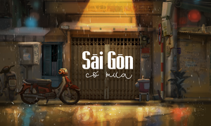 The dazzling scenes of Saigon in the rain