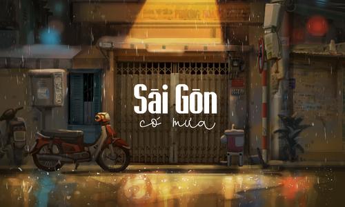 The dazzling scenes of Saigon in the rain
