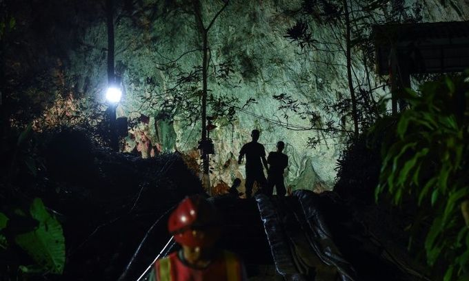 Classmates yearn for safe return of Thai boys trapped in cave