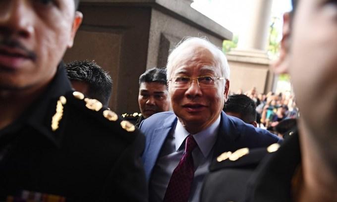 Ex-Malaysian PM Najib charged with corruption