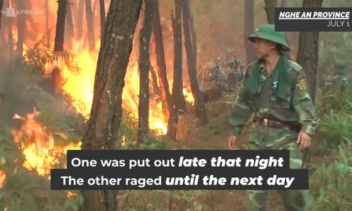 Central Vietnam battles four consecutive forest fires
