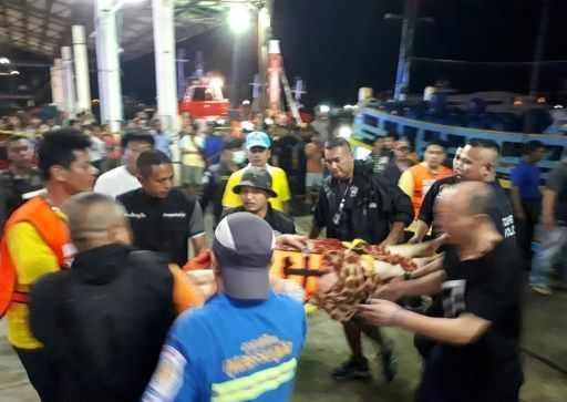 21 dead, many more bodies seen inside sunken Thai tourist boat