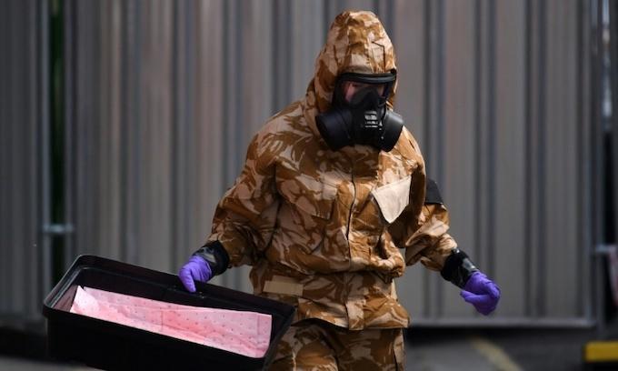 British woman dies after exposure to Novichok nerve agent