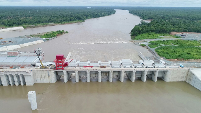 Chinese-built Lower Sesan 2 releases water in Cambodia. Photo by Reuters