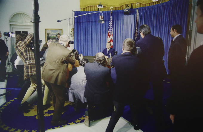 The U.S President Richard M. Nixon declared preliminary approval of the Agreement on Ending the War and Restoring  Peace in Vietnam in January 23, 1973. Photo courtesy of National Archives of the United States.