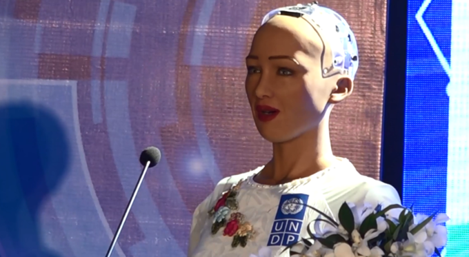 You are 'halfway there,' robot Sophia tells Vietnam