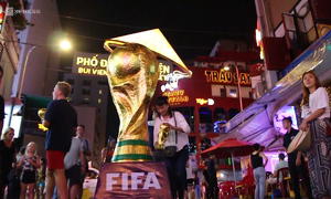 You can raise World Cup trophy from the middle of Saigon