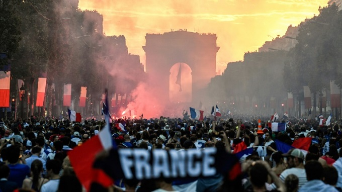The Champs Elysees is a place of mass gathering when the French want to celebrate. Photo by AFP