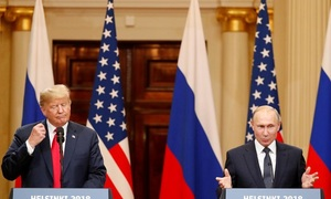 Trump backs Putin on election meddling at summit, stirs fierce criticism