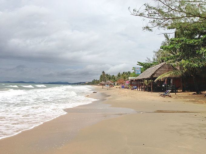 A beach in Phu Quoc Island in the far south of Vietnam.