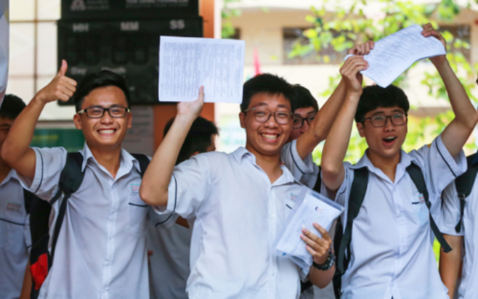 Students attending the national high school exam in June 2018. Photo by VnExpress
