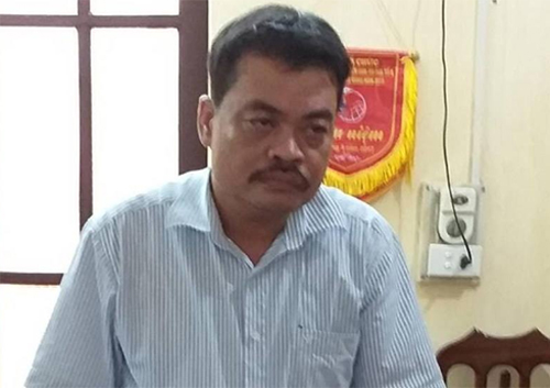 Nguyen Thanh Hoai, head of the Testing and Quality Assurance unit under Ha Giangs Education Department.