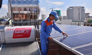 Solar power speeds up approaching household sector
