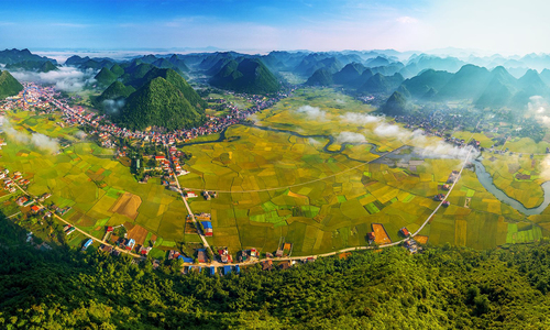 When paddy fields cast a golden glow in northern Vietnam