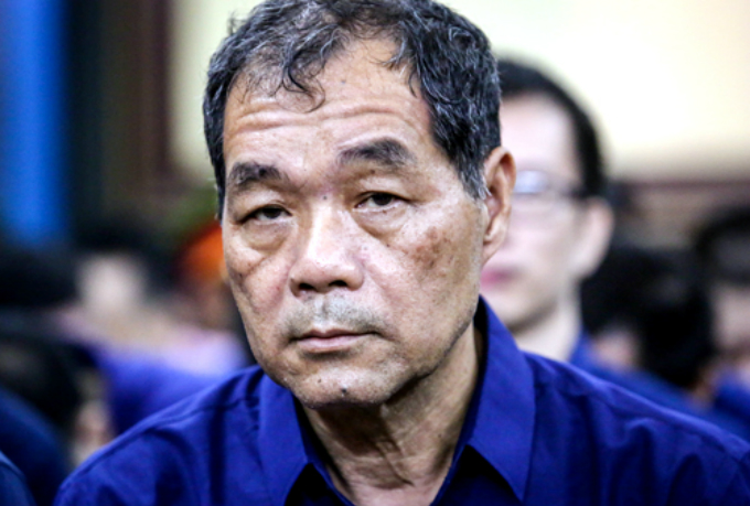Tram Be, a former deputy chairman of Sacombank, at the court in Ho Chi Minh City on July 24, 2018. Photo by VnExpress/Thanh Nguyen