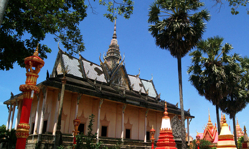 A pagoda in southern Vietnam reflects Khmer glory
