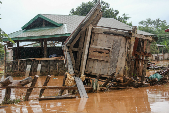 Khok Kong Village, around 30 kilometers (18 miles) from the collapsed hydropower dam, lost several houses, rendering hundreds residents homeless. They have been evacuated to a nearby school.