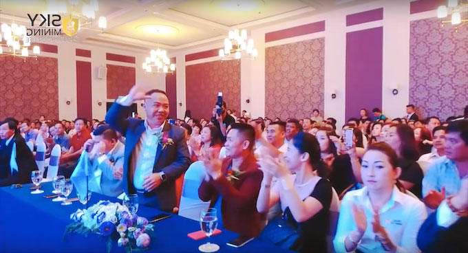 Sky Mining organized several events to attract investors. Screenshot taken from Sky Minings video on Youtube