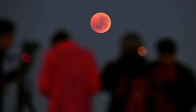 Amateur astronomers in the southern hemisphere were best-placed to witness the rare sight. Photo by AFP