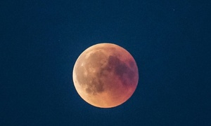 'Blood moon' dazzles skygazers in century's longest eclipse