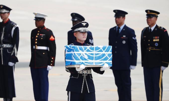 Trump thanks Kim as North Korea hands over Korean War remains