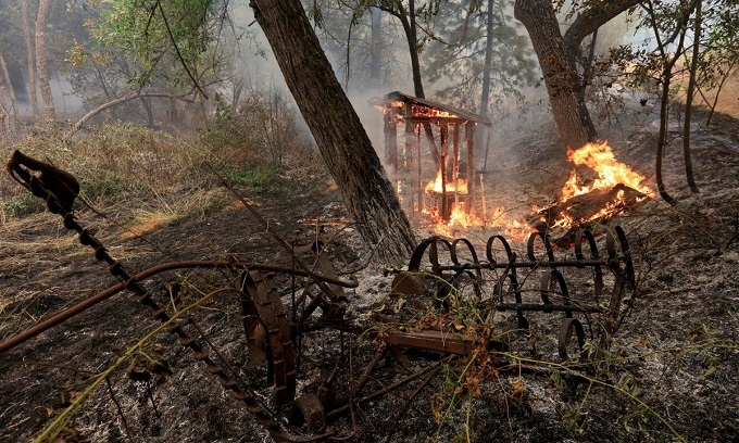 'My kids are deceased': US wildfire kills two children, four others