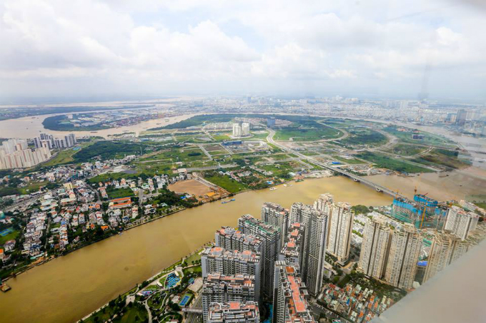 Saigons bird eye view from the tallest building in Vietnam - 2