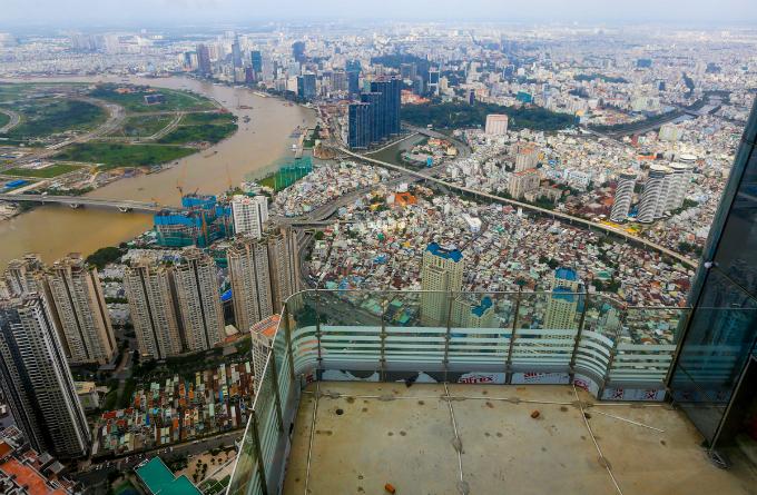 Saigons bird eye view from the tallest building in Vietnam - 1